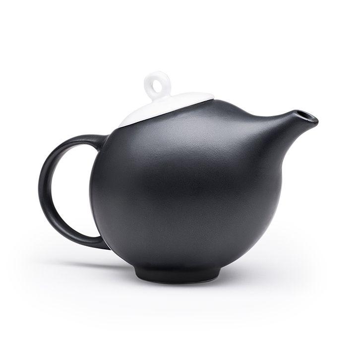 Modern Teapot Design Black White Ceramic A Tribute To Eva Zeisel In 2020 Modern Tea Pot Tea Pots Teapot Design