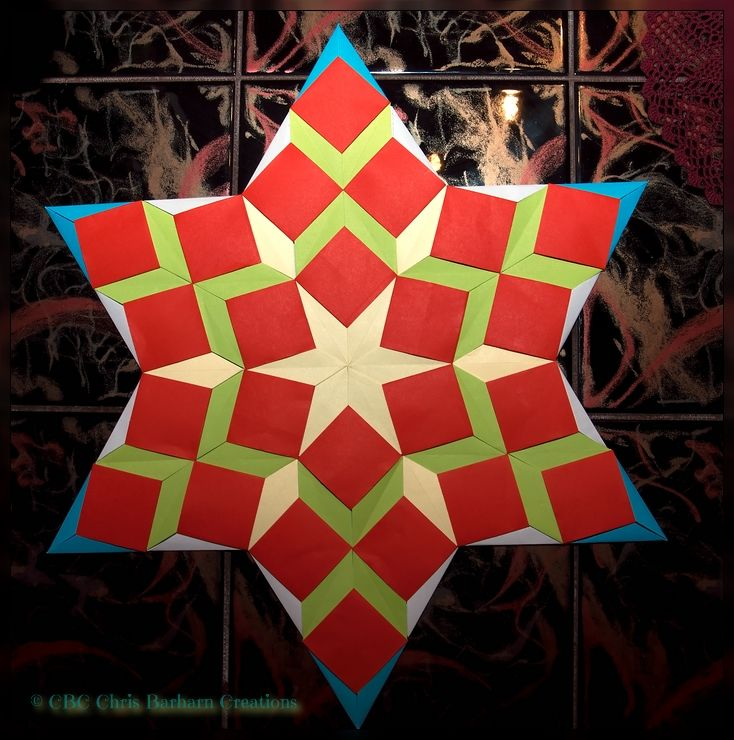 """Origami Quilts foldet by me design Tomoko Fuse """"Origami Patchwork"""". Folder and Photograph Chris Barharn Creations"""