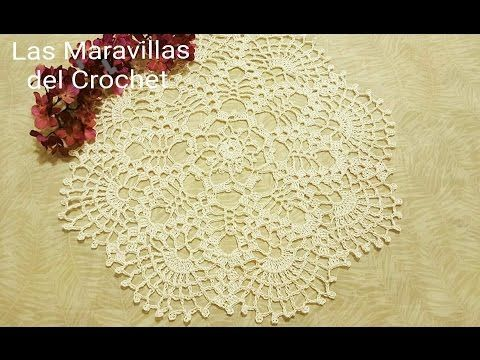 Tapete Redondo en Crochet - YouTube