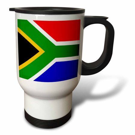3dRose South Africa Flag, Travel Mug, 14oz, Stainless Steel