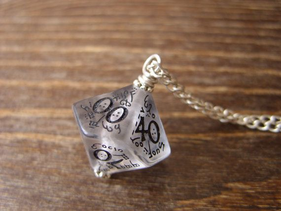 elf dice pendant elvish D100 dice rgp larp by MageStudio on Etsy