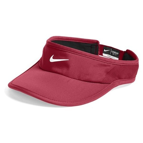 Nike 'Feather Light 2.0' Dri-FIT Visor ($22) ❤ liked on Polyvore featuring accessories, hats, nike and sun visor