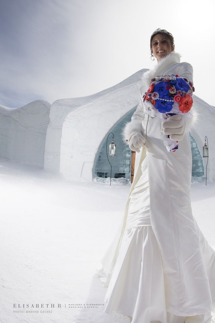 #English #Bride in #QuebecCity!  The story: http://bit.ly/1yJt2VC #Winter #Wedding #HoteldeGlace #IceHotel #Québec #Canada #BridesAbroad elisabethb.com