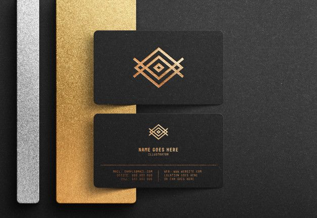 Luxury Logo Mockup On Black Business Card Business Card Mock Up Black Business Card Mockup Luxury Business Cards