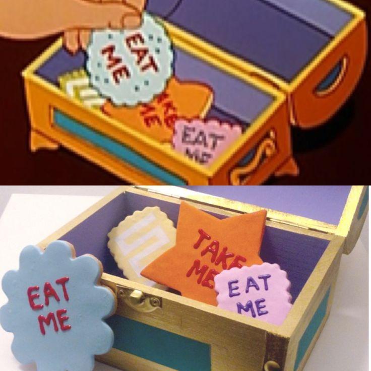 Alice in Wonderland - Eat Me Cookies $38 USD on Etsy.com/shop/Jenniferess Handmade