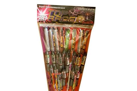 Top Racer 30-Feuerwerk-Raketen von Keller II - Der Feuerwerk Shop