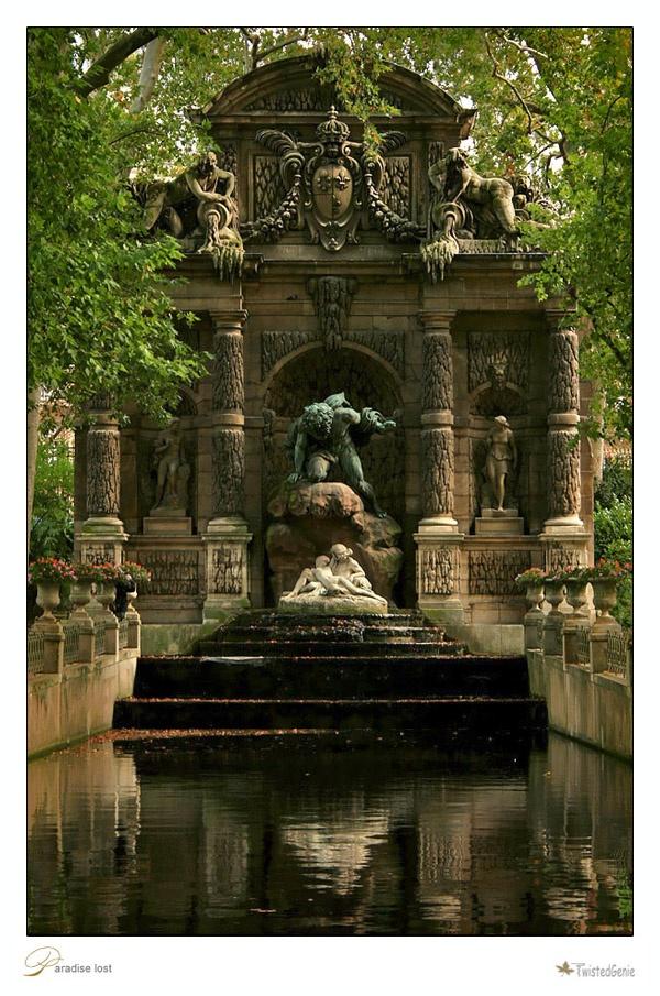'The Marie de Medlicis Fountain'. Luxembourg Garden, Paris.