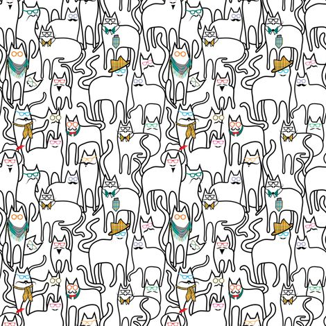 hipster cats fabric by vo_aka_virginiao on spoonflower custom fabric