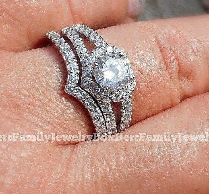 14k White Gold 925 Sterling Silver Round Diamond cut Engagement Ring Wedding Set #weddings #wedding #engagement #engagementring #marriage #anniversarygifts #anniversary #bridal #bride #bridetobe #womens #ring #rings #sterlingsilver #sterling #silver #silverjewelry #jewellery #jewelry #diamond #diamondring #diamondjewelry #ebay #discount #sale #cheap #budget #budgetwedding