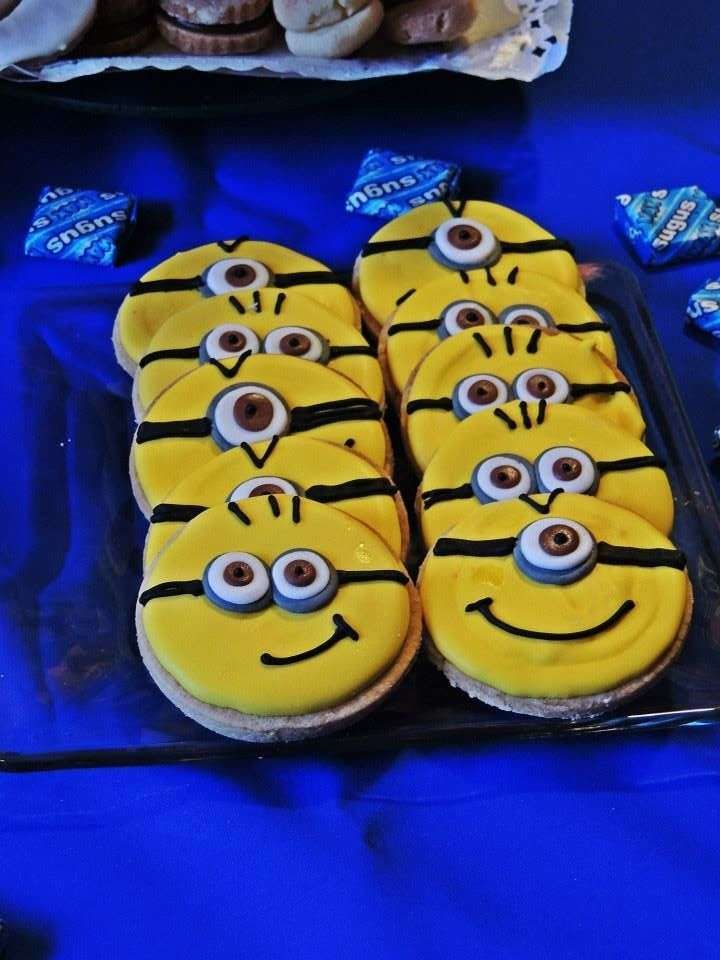 Despicable Me Minions birthday party cookies! See more party ideas at CatchMyParty.com!