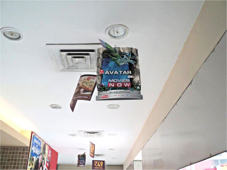This 3D Dangler was designed and installed by us across the Coffee Chain of Cafe Coffee Day in India for the TV launch of the movie 'Avatar' on 'Movies Now' channel.