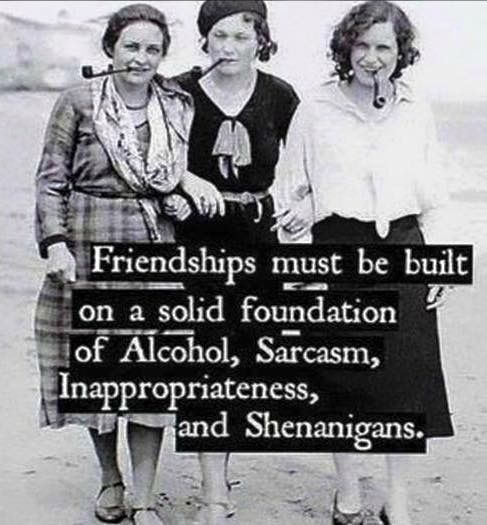 Friendship is built on a solid foundation.
