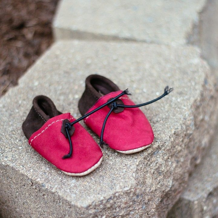 Handmade Suede Leather Baby Moccasins from Trouvaille Boutique