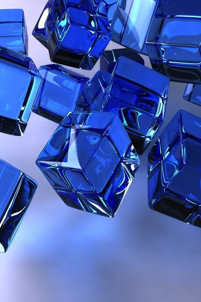 Blue Glass Cubes ~♥