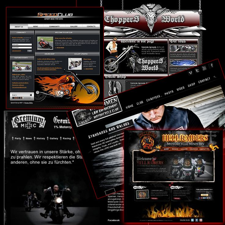 With a motorcycle club website you can get to supporters and members in an a easy and effective way. We decided to give motorcycle clubs and biker shops the change of having their own custom built websites. We give you a fully loaded feature packed website package. Features included is:  Events Management and notification Facebook Integration Photo and Video albums Blog for articles Member Management Online Shop and many more custom features.