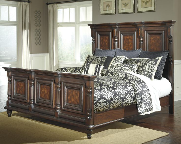 Great Key Town King Mansion Panel Bed By Millennium