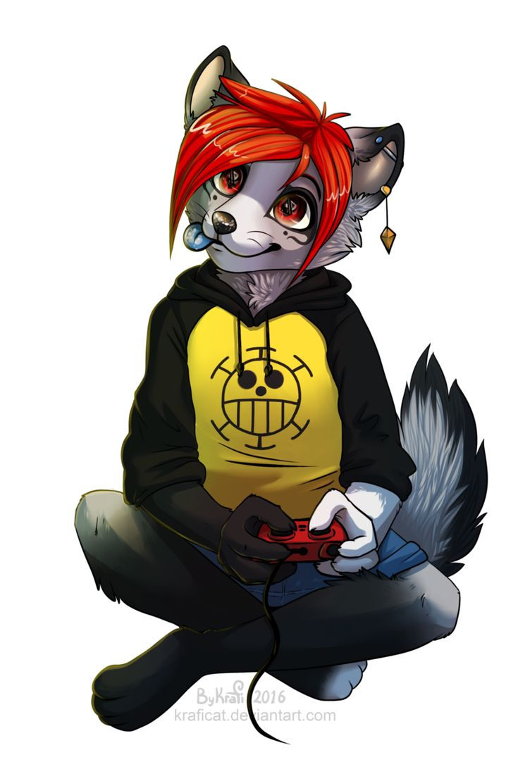 name: night age: 16 gender: male species: wolf bio: brother to alex, gamer, likes to start trouble relationship: dating lily XD