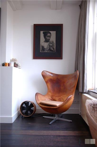 Leren stoel