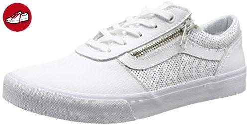 Vans Damen Milton Zip Sneakers, Weiß (Perf Leather White), 41 EU (*Partner-Link)