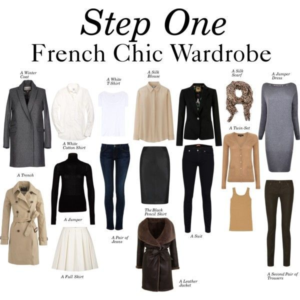"""""""Step One – French Chic Wardrobe"""" by charlotte-mcfarlane on Polyvore"""