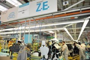 Interior de la fábrica de Renault en Valladolid donde se fabrica el Twizy.