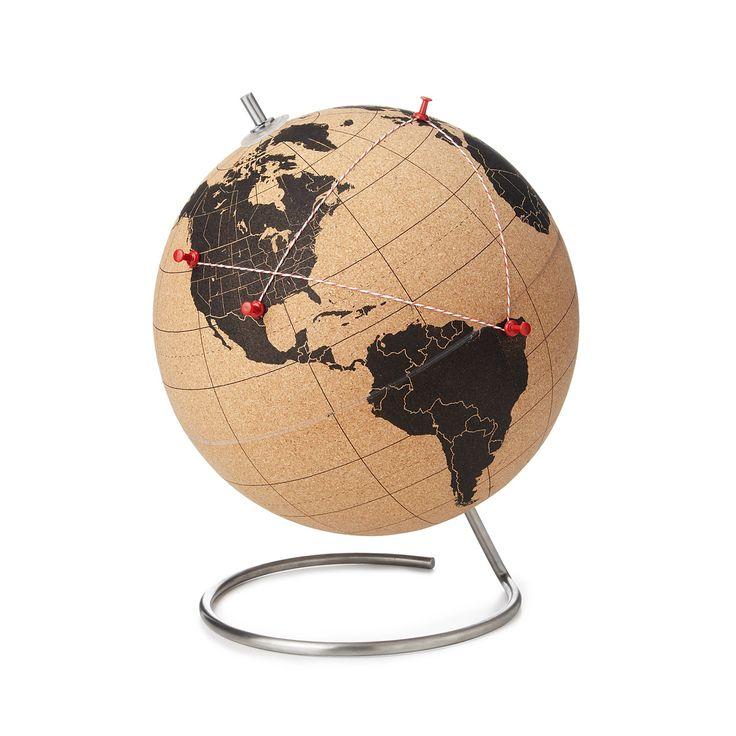CORK GLOBE | travel, interactive globe | UncommonGoods