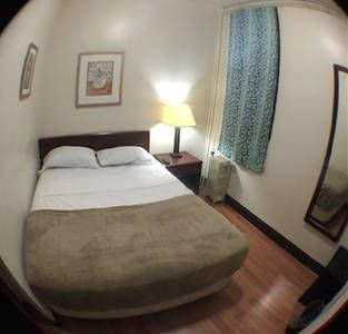 Check out this awesome listing on Airbnb: $65 A Night, $400 A Week.  In Union City, just a few minutes to Times Square.