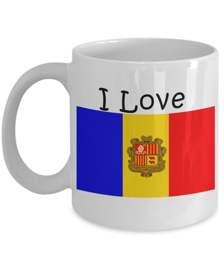 I Love Andorra Coffee Mug With A Flag