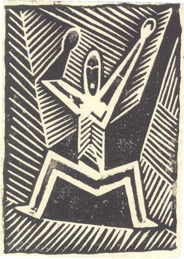 Herec I. 1920, linořez, 18 x 13 cm