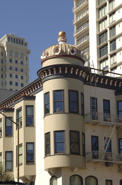 Cupola On Top Of Curved Bay Windows Russian Hill San Francisco Ca Architecture In 2018 Pinterest California And