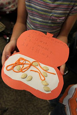 Bookbto make after exploring the inside of a pumpkin: