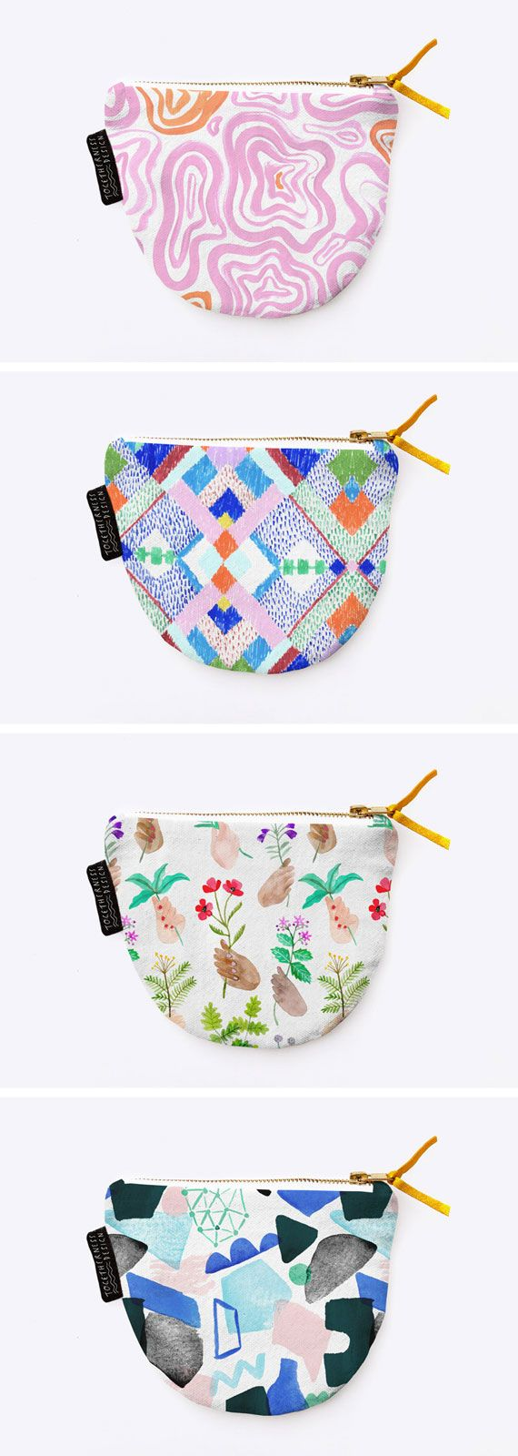 Step up your coin purse game with a patterned pouch by Melbourne-based illustrator and maker, Esther Sandler. #EtsyFinds