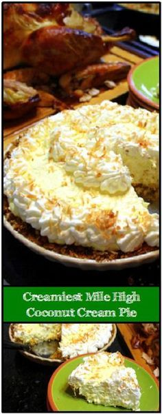 Creamiest Mile High COCONUT CREAM PIE (and Easiest) - 52 Holiday Cakes and Pies at Home... This Ohh and Aaahs inspiring cake is amazingly easy. Uses a box of pudding to help the custard filling come together. Adding a unique Salty/Sweet Pretzel crunchy crust adds a new unexpected texture and taste to the pie. I made three pies for Christmas this was BY FAR the most popular! AND EASIEST!