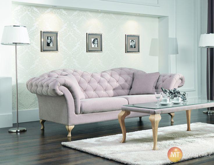 Elegantní pohodlná pohovka Chantal v zámeckém stylu #settee #sofa #divan #couch