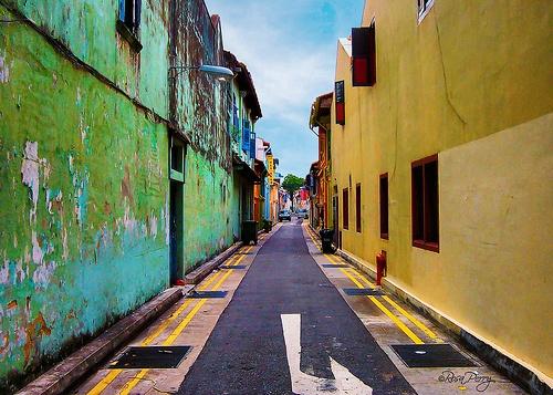 Street off Serangoon Road. Singapore