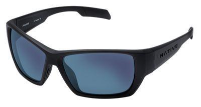 Native Eyewear Ward Polarized Sunglasses - Asphalt/Blue Reflex Mirror, Sportflex
