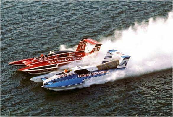 1984 Atlas Vs Squire Turbine Vs Piston Power Hydroplane Boats