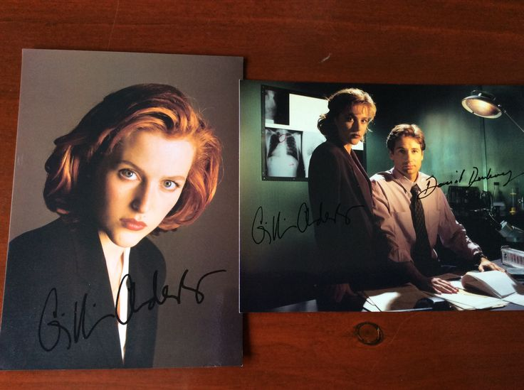 Printed autographs. The X Files