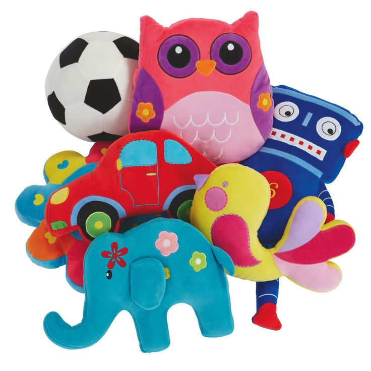 For children's bedrooms, introduce an element of springtime fun with the newly released set of colourful plush flower, bird, elephant and car novelty cushions. Price $10 each.