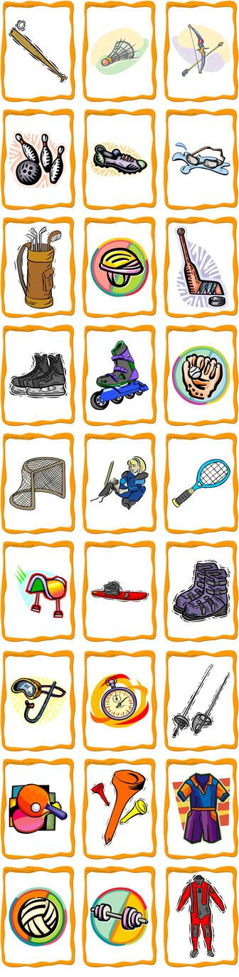 Preview Sports Equipment Flashcards