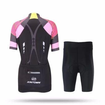 รีบเป็นเจ้าของ  XINTOWN Ladies' riding suits mountain bikes uniforms short sleevesuits shorts tops suits - intl  ราคาเพียง  1,145 บาท  เท่านั้น คุณสมบัติ มีดังนี้ 1. Bahan Material: 100% poliester shirt, seluar 84% poliester +16% Spandex 2. Fungsi: pengeringan bernafas, wicking kelembapan, anjalkalis air. 3. Proses percetakan digital: menggunakan diimport dakwatItali, percetakan digital, warna-warna terang tidak pudar. 4. ketiak jahitan kain: ketiak jahitan kain bernafas…