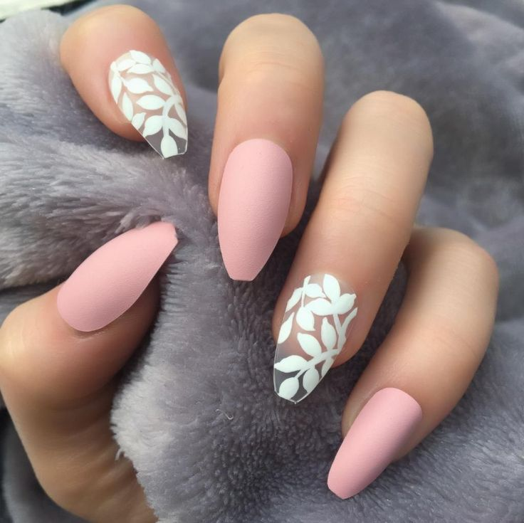 30+ Gorgeous Matte Coffin Nails Design for Women 2019