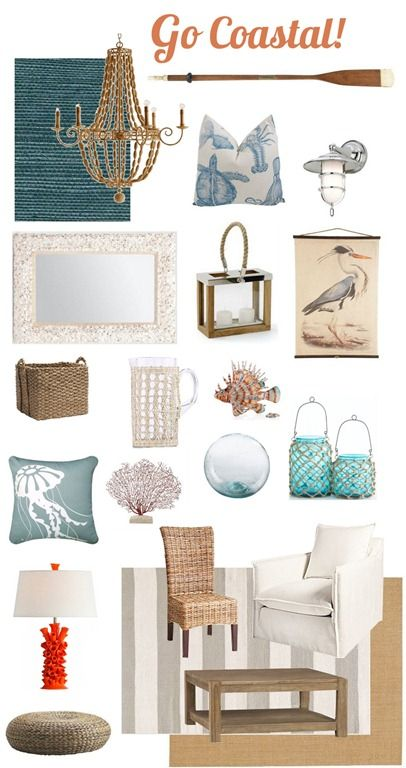 Abigail Shell Mirror on Better Homes and Garden - how to decorate coastal style