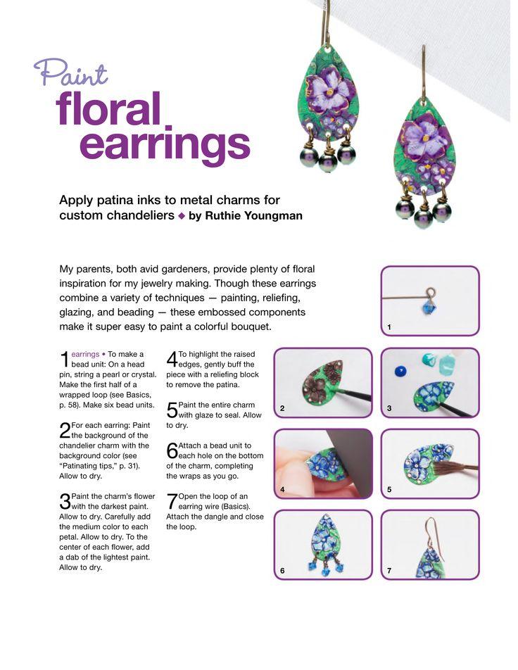 DIY: PAINT FLORAL EARRINGS