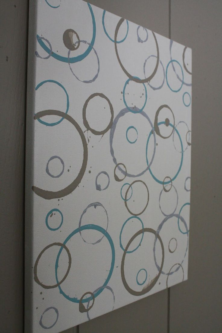 Diy bathroom canvas wall art - Canvas Art Chaulk Painting Diy From My Bedroom To Make Random Circles On The Canvases