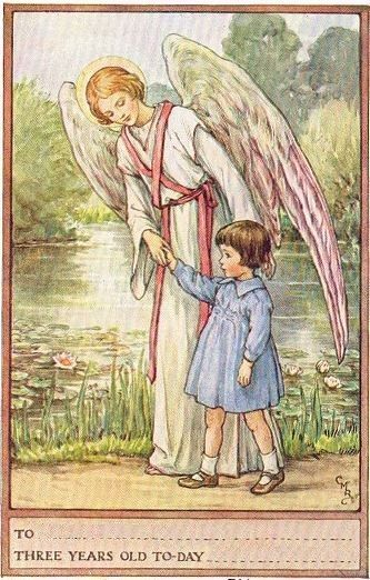 Cicely Mary Barker - Guardian Angel Birthday Cards - Three Years Old