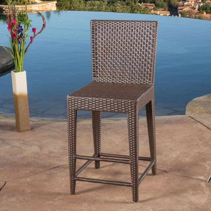 Shop Best Selling Home Decor Pacific Wicker Bar Stool At Loweu0027s Canada.  Find Our Selection Of Patio Bar Stools At The Lowest Price Guaranteed With  Price ...