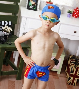 Superman Swim Wear by taobaocdn Kids Swimming_Trunks Superman (Ryan would go nuts!)