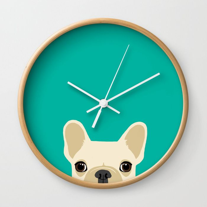 Buy French Bulldog Wall Clock by annewashere. Worldwide shipping available at Society6.com. Just one of millions of high quality products available.