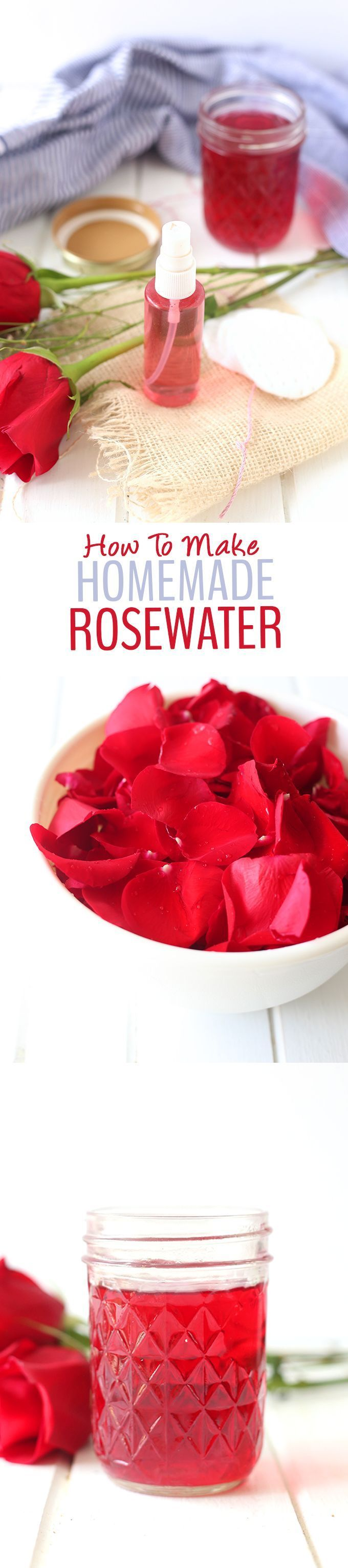 A step-by-step tutorial on how to make homemade rosewater a recipe for DIY Rosewater Face Toner! Youll learn all of the benfits of rosewater for your skin too.